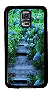 Blue Hydrangeas PC Case Cover For Samsung S5 and Samsung Galaxy S5 Black
