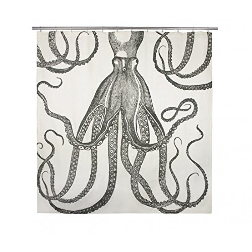 thomaspaul Octopus Shower Curtain, Ink by Thomas Paul