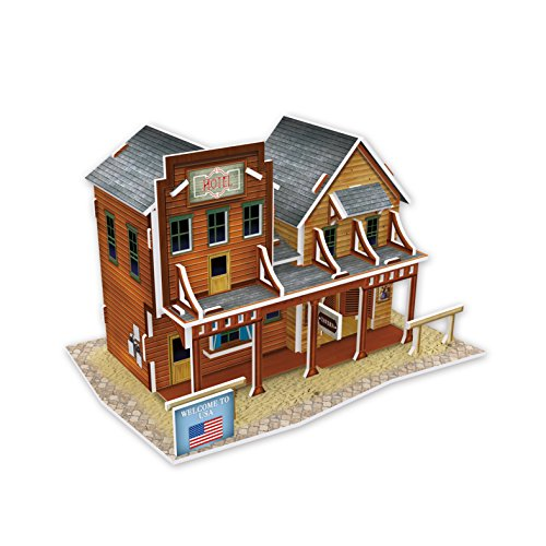 Lelifang 3D stereoscopic new listing world style hut building assembly model children 's toys W3122 United States - Western - State Hut