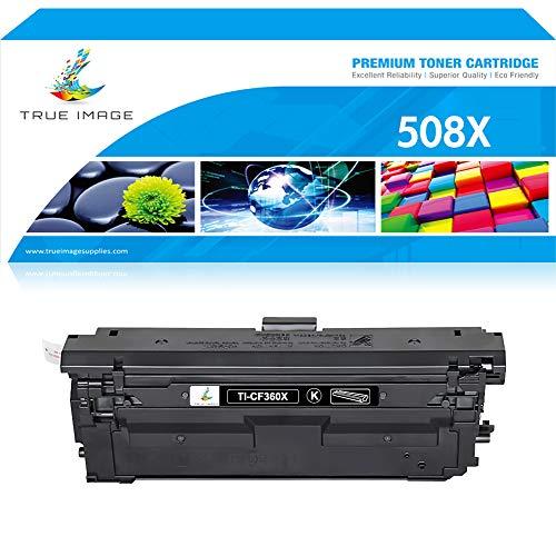 (True Image Compatible Toner Cartridge Replacement for HP 508X CF360X 508A CF360A Toner HP M553 M553dn Toner HP Color Laserjet Enterprise M553dn M577dn M553X M553N M552DN M577 M553 Printer Black Ink)