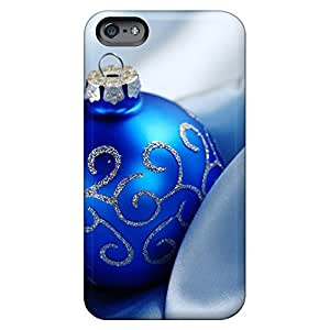 Covers phone carrying covers Protective Beautiful Piece Of Nature Cases Eco Package iphone 5c - christmas blue ball
