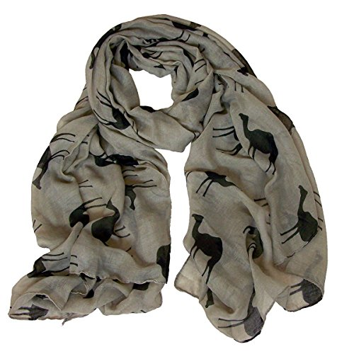 Camel Print Cotton Long Scarf CSJ-L-38 (BN)