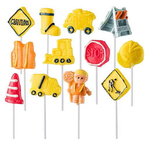 Prextex Construction Themed Lollipops Construction Truck Shaped Suckers - Pack of -