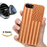 america phone case - US Flag iPhone 8 7 6 Case-iProductsUS Wooden iPhone Cases Engraved America Flag,Built-in Metal Plate,Covered TPU Rubber iPhone Wood Phone Case Shockproof & Protective (4.7