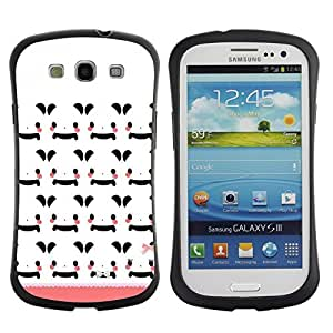 "Hypernova Slim Fit Dual Barniz Protector Caso Case Funda Para SAMSUNG Galaxy S3 III / i9300 / i747 [Modelo blanco historieta de Japón Peach""]"