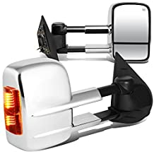 Escalade / Tahoe Pair of Powered + Heated Glass + Signal + Manual Extenable Chrome Side Towing Mirrors