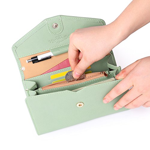 Women for Passport Wristlets Purse One Zg Phone Extra Clutch Capacity All Cell Wallet Emerald In Wallet nqTAwwFCW