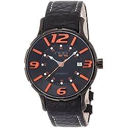 NOA watch 16.75 Black Dial Orange index self-winding M006 Men's [regular imported goods]