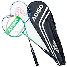 ADIBO Badminton Racket, 2 Player Racquets Set for Beginner with Rackets Bag