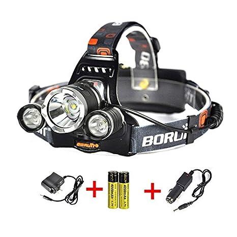 Ultra Bright 13000 Lm 3 X Led Headlamp Head Torch Light 2x18650 Ac