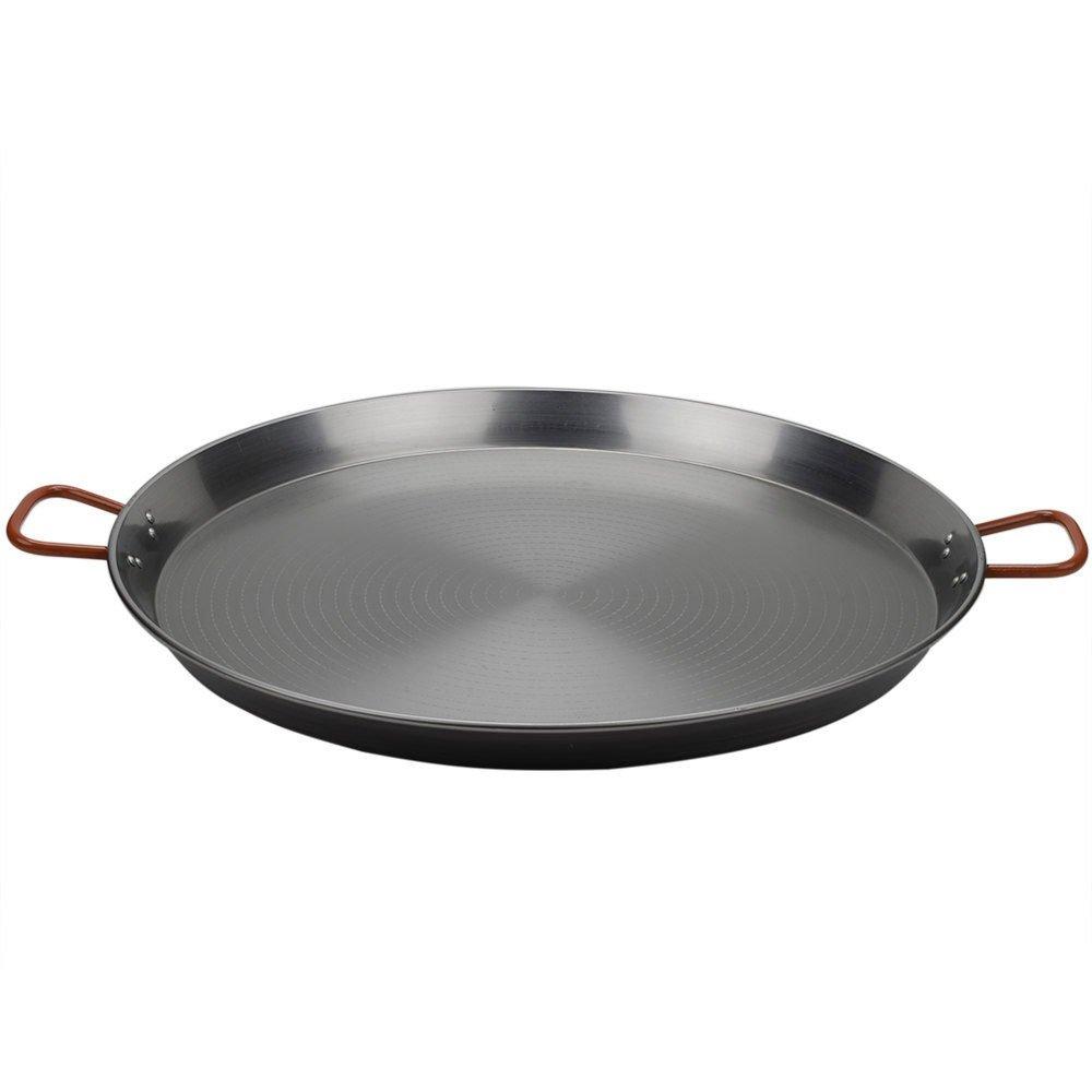 Matfer 071052 35 1/2'' Polished Steel Paella Pan