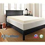 PuraSleep Classic 3 Memory Foam Mattress Topper – Made In The USA – 3-Year Warranty, Twin