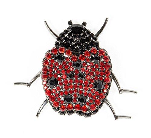 Ladybug Pin with Siam and Jet Swarovski Stones by Albert ...