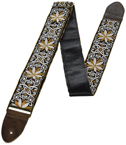 """Levy's Leathers 2"""" Vintage Hootenanny Jacquard Weave Guitar Strap with Garment Leather Backing (M8HTV-13) from Levy's Leathers"""