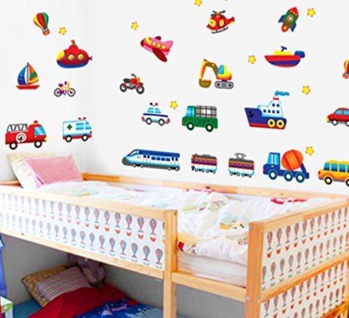 ZXL Dibujos Animados Coches Habitación Infantil Pegatinas de ...
