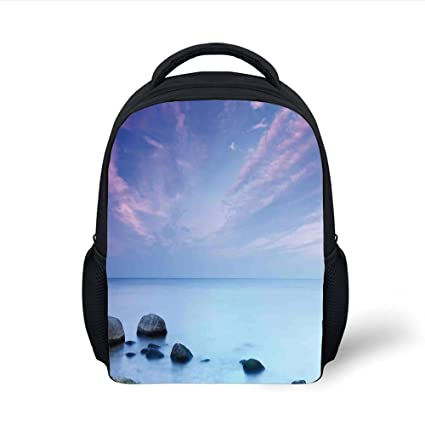 Amazon.com  iPrint Kids School Backpack Seaside Decor dfe41f48d13f0