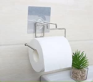 ezhome self adhesive sus 304 stainless steel toilet paper reserve holder storage. Black Bedroom Furniture Sets. Home Design Ideas