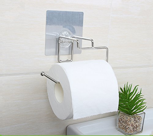 EzHome Self Adhesive SUS 304 Stainless Steel Toilet Paper Re