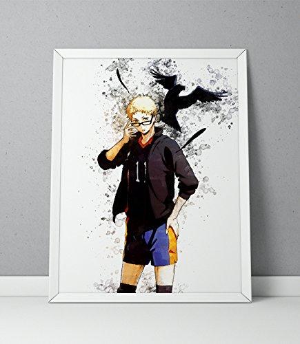 Haikyuu print, Haikyuu poster, Haikyu print, Haikyu poster, Kei Tsukishima print, Kei Tsukishima poster, Anime print watercolor N.011