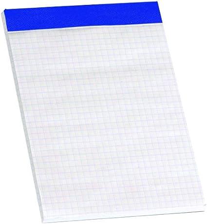 Enri 100104236 - Pack de 10 blocs de notas grapados sin tapa, A6 ...