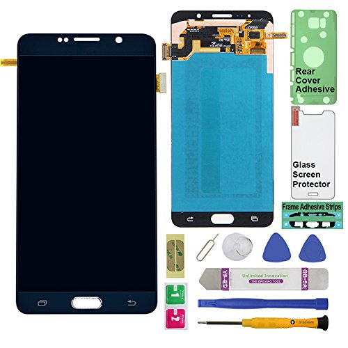 Display Touch Screen (AMOLED) Digitier Assembly with Stylus Pen Sensor for Samsung Galaxy Note 5 (V) N920 N920A N920T N920V N920P N920R4 N920F (Mobile Phone Repair Replacement) (Black Sapphire)