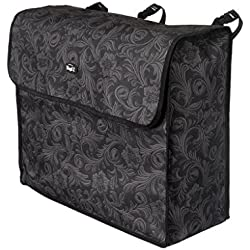 Tough-1 Blanket Storage Bag Black Tooled Leather