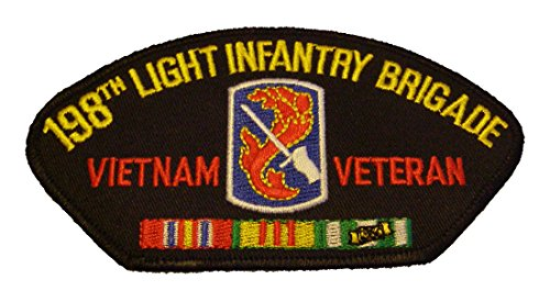 198TH LIGHT INFANTRY BRIGADE VIETNAM VETERAN with CREST and SERVICE RIBBONS - Great Color! - Veteran Owned - 198th Light