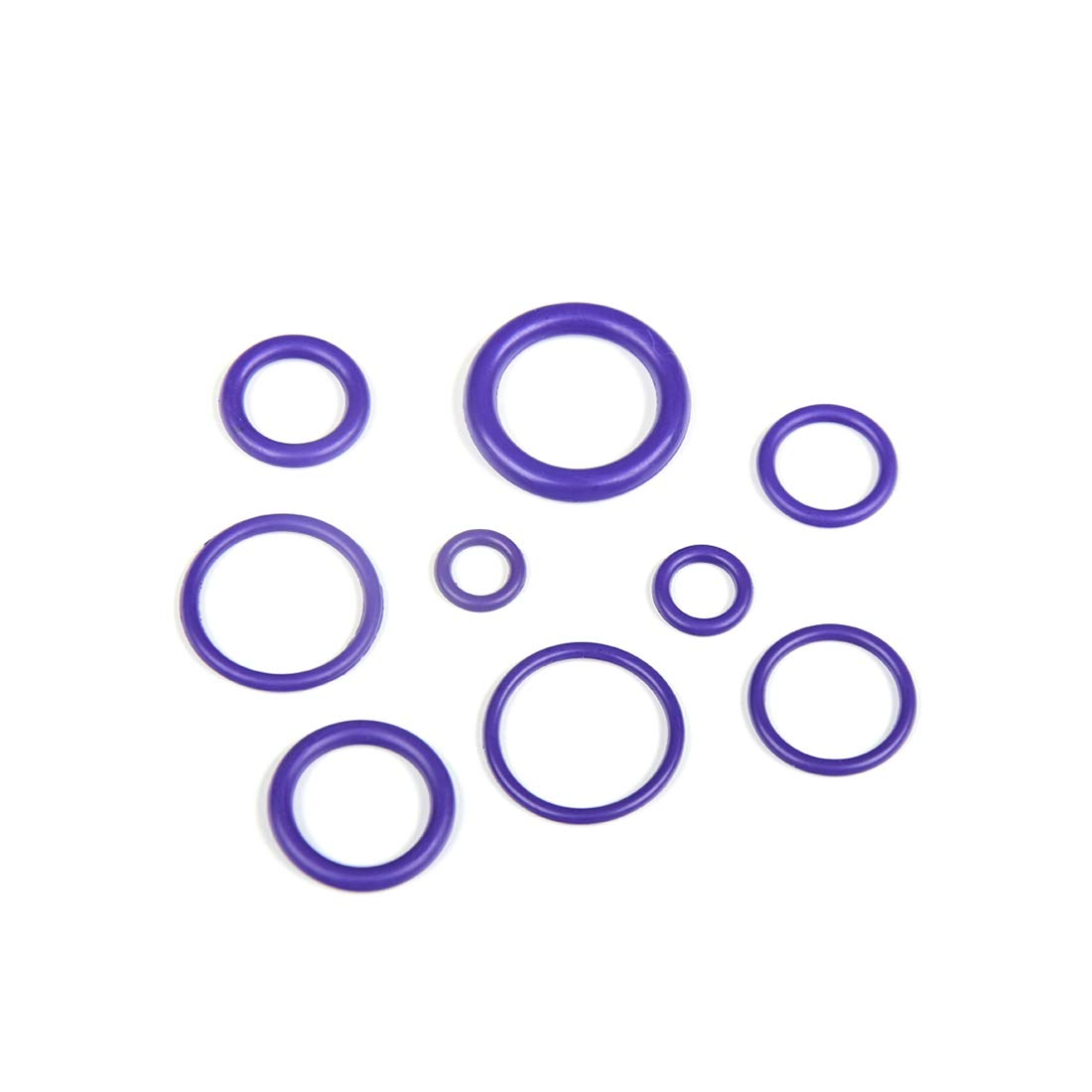 270Pcs 18 Popular Sizes Purple O-Ring Assortment Rubber Keyboard Dampeners with Plastic Storage Box for Seals Air Conditioning Car Auto Vehicle Repair 9MM-20MM