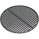 """Aura Outdoor Products Cast Iron Dual Side Grid Cooking Grate 18"""" for Large Big Green Egg, Kamado Joe"""