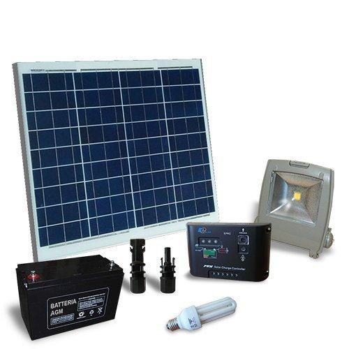 Kit solar Beleuchtung Neon 50W 12V für Innen und Außen Photovoltaik