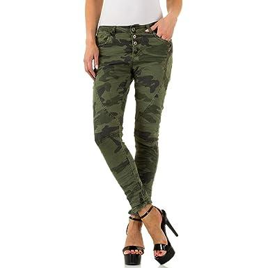 e679304d54906e Ital-Design Camouflage Low Skinny Jeans Für Damen, Grün In Gr. Xl ...
