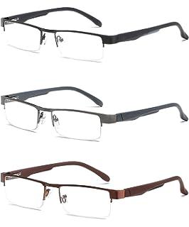 VEVESMUNDO Gafas de Lectura Medio Marco Hombre Mujer Moderno ...