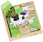 Bigjigs Toys BJ536 Animal Cube Puzzle