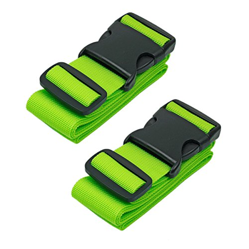Strap Attachment (BlueCosto Luggage Strap Suitcase Belts Travel Accessories, 2-Pack, Green)