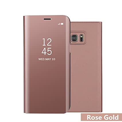 premium selection fa938 e4000 DStores Note 5 Flip Case, [Stand Feature] Clear-View Electroplating Mirror  Leather Horizontal Flip Protective Cover with Smart Sleep/Wake Up Function  ...