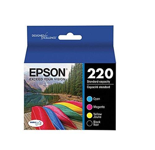 Epson T220120-BCS 220 - 4-pack - black, yellow, cyan, magenta - original - ink cartridge - for Expression Home XP-220, XP-324, WorkForce WF-2630, WF-2630WF, WF-2660 -  T220120BCS