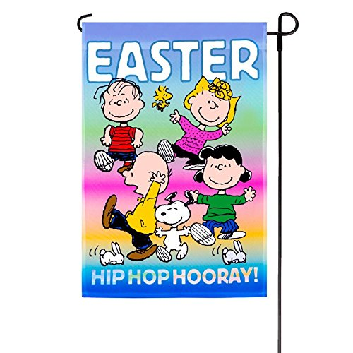 Peanuts HIP HOP HOORAY Garden Flag 12