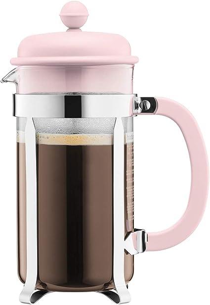 Bodum - Cafetera de émbolo (8 tazas), color rosa pastel: Amazon.es: Hogar