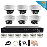 LaView 6 Camera Security System Premium IP for Home & Business 6 IP 2MP Night Vision Dome Cameras 1080P Resolution, 8 Channel 1080P Poe HD NVR with a 2TB HDD, LV-KND988P86D206-T2