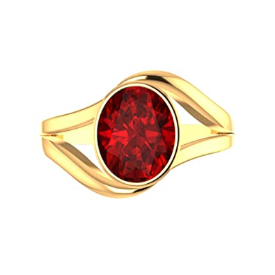 59b842a625b1e3 Buy 9ratna Collection 22k (916) Yellow Gold and Ruby Ring Online at ...