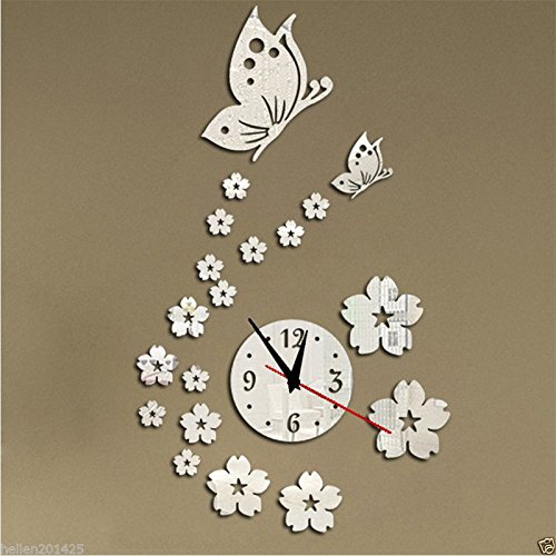New Fashion Wall Clock Diy 3D Mirror Sticker Home Office Room Decor Art - Beach Best Shopping Miami