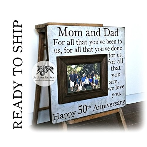 Anniversary Gift For Parents, 50th Anniversary Gift, For All That You Have Been To Us, Anniversary Frame, 16x16 THE SUGARED PLUMS