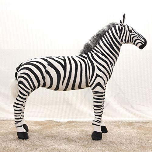 EOFK Large 60X55Cm Simulation Zebra Plush Toy Standing Zebra Toy Decoration,Birthday Gift W1971 Cool Must Haves Girl S Favourite Superhero Party Supplies UNbox ()