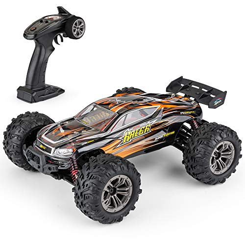 DM 1: 16 Scale All Terrain RC Cars, 36km/H High Speed 4WD Remote Control Truck for Kids & Adults, 2.4Ghz Radio Controller, Radio Controlled Electronic Cars, Waterproof Off-Road RC Trucks(Orange)