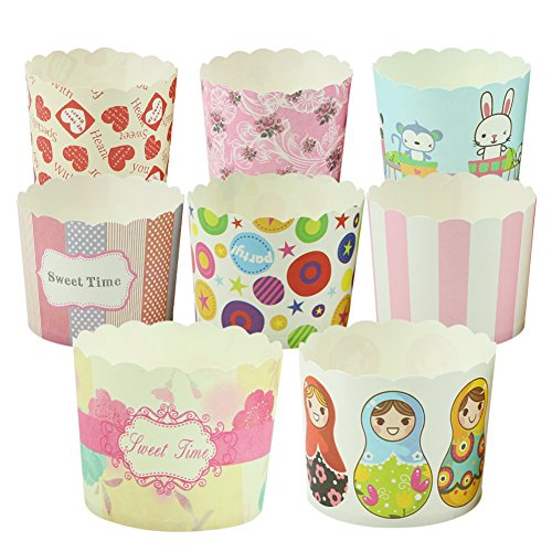 Delight eShop 50Pcs Paper Cake Cup Cupcake Cases Liners Muffin Dessert Baking Wedding Party