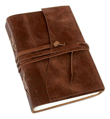 Antique Dark Brown Leather Journal Diary (Handmade)-Leather Cord Coptic bound 25% off Sale + SPECIAL OFFER NOW!]()