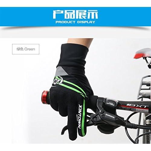 XINTOWN gants d'équitation vélo d'exercice complet doigt plein multi-couleurs