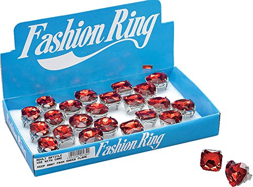 Adult Halloween Christmas Fancy Dress Party Diamond Rings Red Jumbo Single -