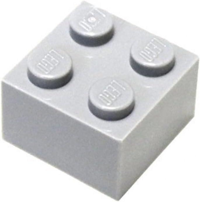 LEGO Parts and Pieces: 2x2 Light Gray (Medium Stone Grey) Brick x20
