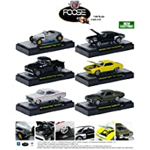 Chip Foose Collection Series 1, 6pc Diecast Car Set 1/64 IN DISPLAY CASES by M2 Machines 32600-CF01